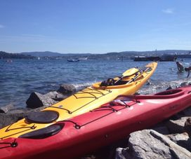 Kayaking on the Trondheim fjord