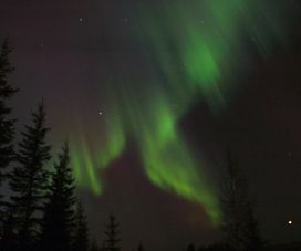 Northern lights seen from our home