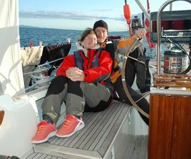 Sailing with friends in Scotland
