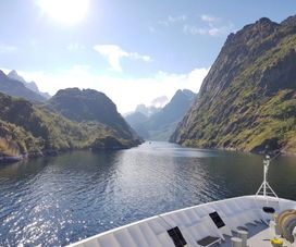 Trollfjord (Lofoten), seen from the Hurtigruten